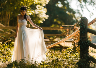 Chilham Bridal Bride Amy's Beautiful Budget Wedding Dress from Chilham Bridal