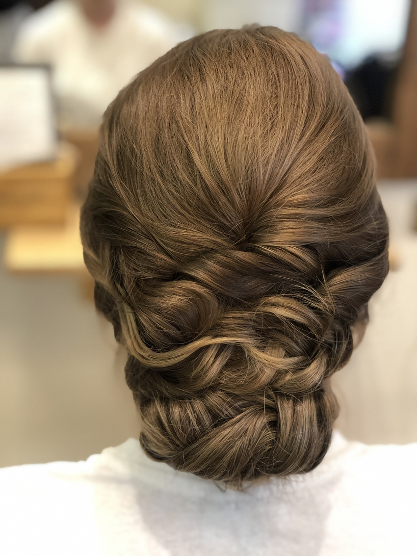 A timeless wedding hair look by one of the best wedding hair professionals in Kent