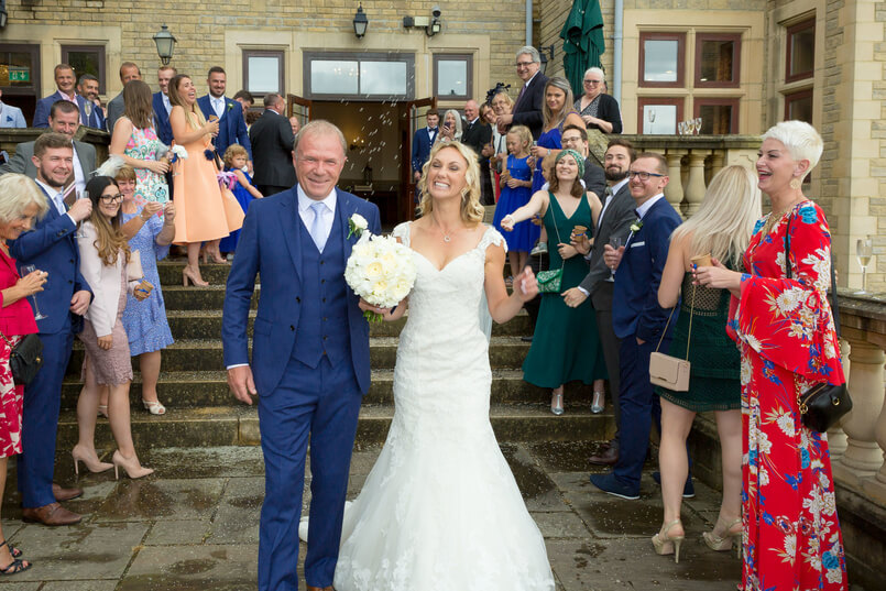 French and English wedding at South Lodge Hotel