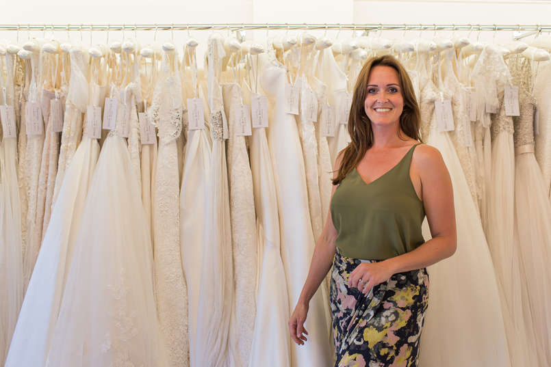 Carly owner of Chilham Bridal, one of the best wedding dress shops in Maidstone
