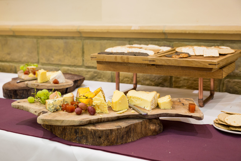 Cheese boards at French-English wedding
