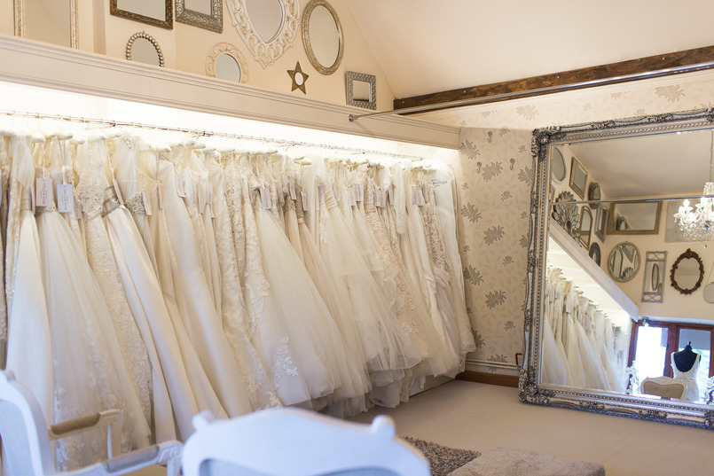 Inside Chilham Bridal, one of the best wedding dress shops in Maidstone