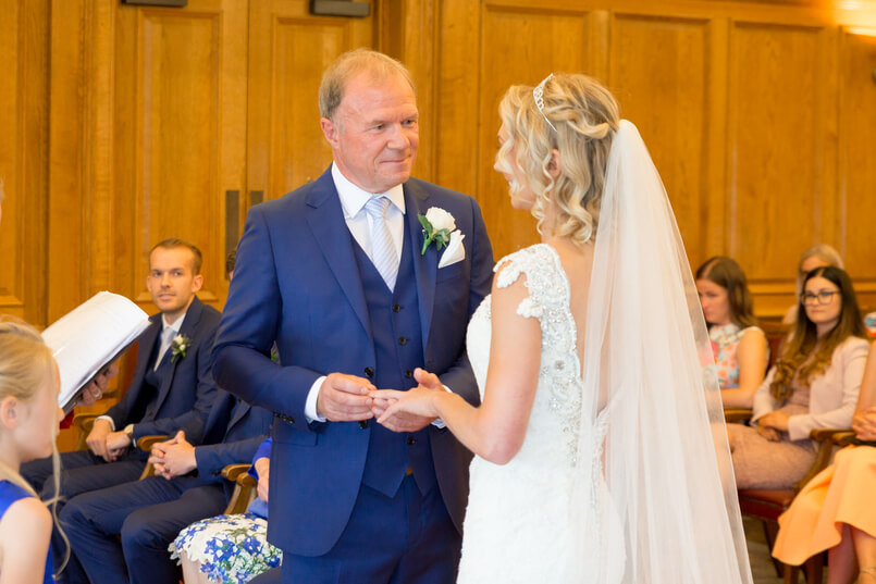 Carine's long wedding veil from Chilham Bridal