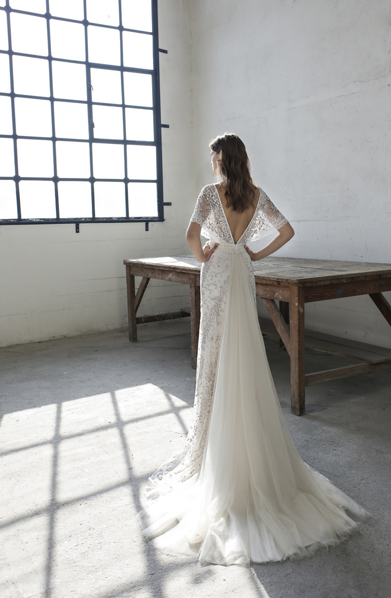 Back of Eden wedding dress by Modeca Bridal