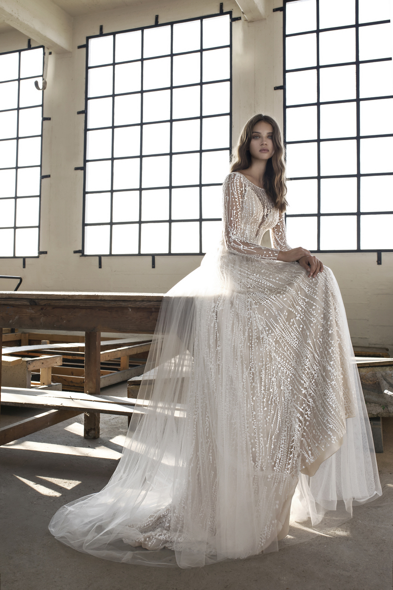 Elena: The Boho Ex-Sample Wedding Dress from Le Papillon by Modeca Bridal
