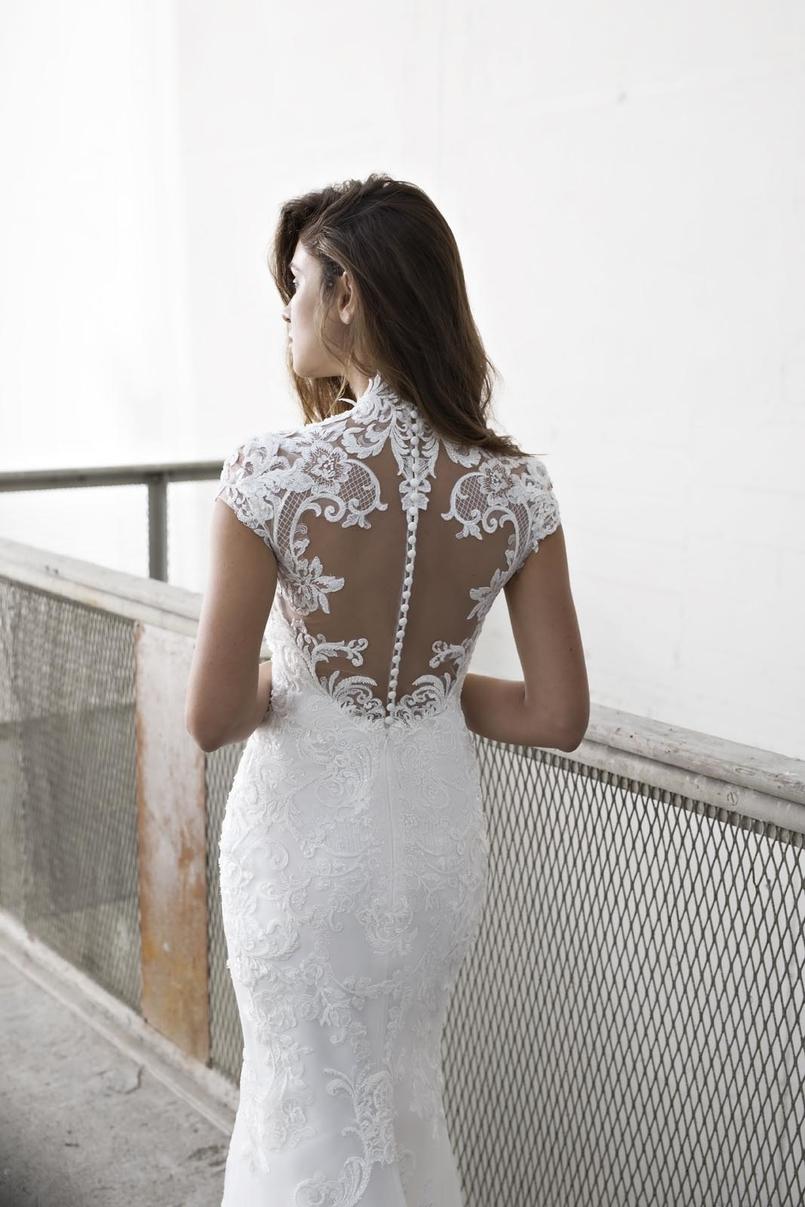 Close up image of the back of Estavana ex-sample Modeca Bridal wedding dress